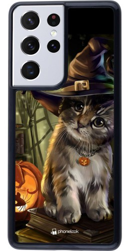 Coque Samsung Galaxy S21 Ultra 5G - Halloween 21 Witch cat