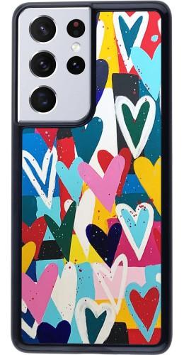 Coque Samsung Galaxy S21 Ultra 5G - Joyful Hearts