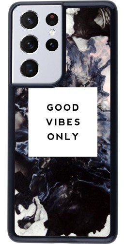 Coque Samsung Galaxy S21 Ultra 5G - Marble Good Vibes Only