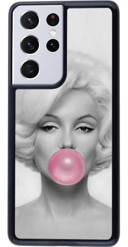 Coque Samsung Galaxy S21 Ultra 5G - Marilyn Bubble
