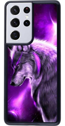 Coque Samsung Galaxy S21 Ultra 5G - Purple Sky Wolf