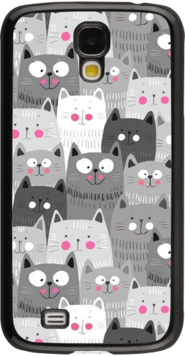 Coque Samsung Galaxy S4 - Chats gris troupeau