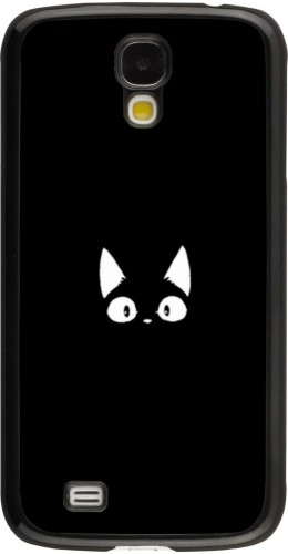 Coque Samsung Galaxy S4 - Funny cat on black