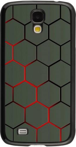 Coque Samsung Galaxy S4 - Geometric Line red