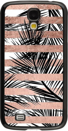 Coque Galaxy S4 - Palm trees gold stripes