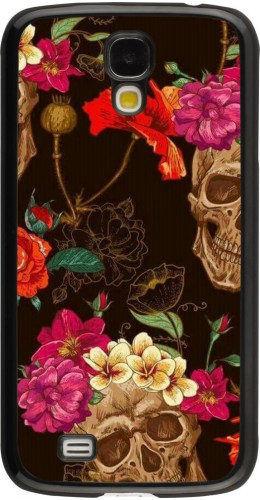 Coque Samsung Galaxy S4 - Skulls and flowers