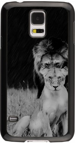 Coque Galaxy S5 - Angry lions