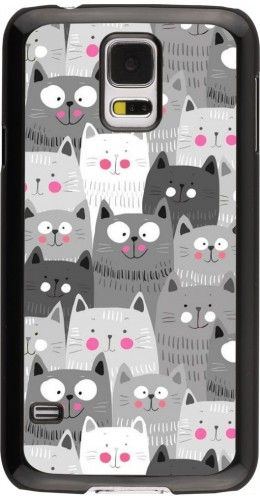 Coque Samsung Galaxy S5 - Chats gris troupeau