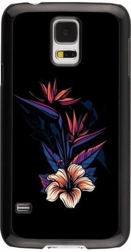 Coque Samsung Galaxy S5 - Dark Flowers