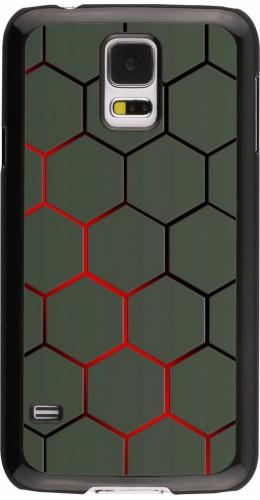 Coque Samsung Galaxy S5 - Geometric Line red