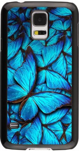 Coque Galaxy S5 - Papillon bleu