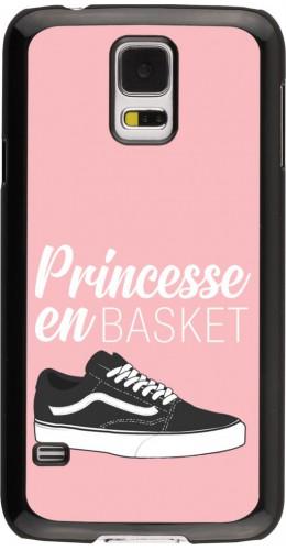 Coque Samsung Galaxy S5 - princesse en basket