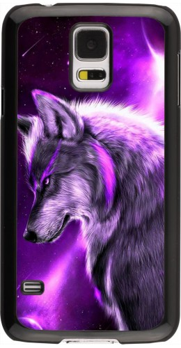 Coque Samsung Galaxy S5 - Purple Sky Wolf