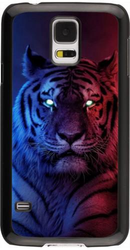 Coque Samsung Galaxy S5 - Tiger Blue Red
