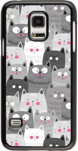 Coque Samsung Galaxy S5 Mini - Chats gris troupeau