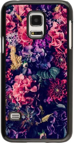 Coque Galaxy S5 Mini - Flowers Dark