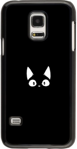 Coque Samsung Galaxy S5 Mini - Funny cat on black