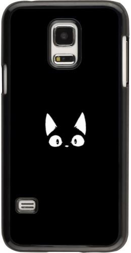 Coque Samsung Galaxy S5 Mini - Funny cat on black