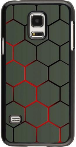 Coque Samsung Galaxy S5 Mini - Geometric Line red