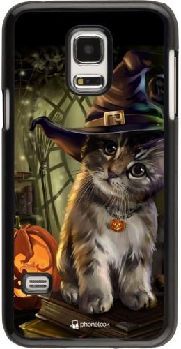 Coque Samsung Galaxy S5 Mini - Halloween 21 Witch cat