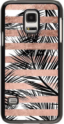 Coque Samsung Galaxy S5 Mini - Palm trees gold stripes