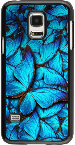 Coque Galaxy S5 Mini - Papillon bleu