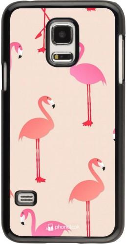 Coque Samsung Galaxy S5 Mini - Pink Flamingos Pattern