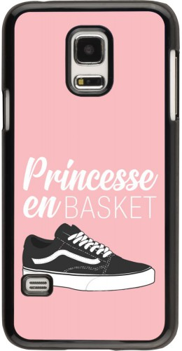 Coque Samsung Galaxy S5 Mini - princesse en basket