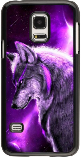 Coque Samsung Galaxy S5 Mini - Purple Sky Wolf