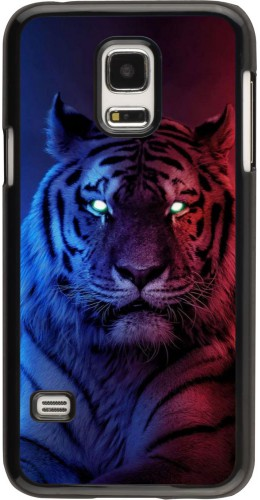 Coque Samsung Galaxy S5 Mini - Tiger Blue Red