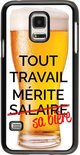 Coque Samsung Galaxy S5 Mini - Tout travail mérite sa bière