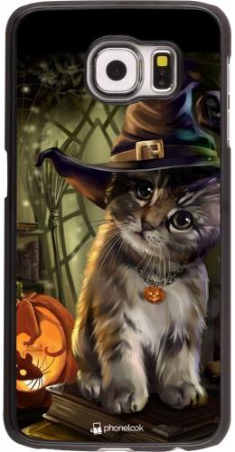 Coque Samsung Galaxy S6 - Halloween 21 Witch cat