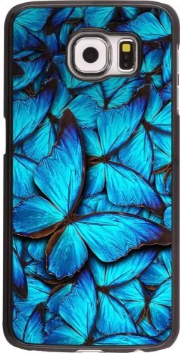 Coque Galaxy S6 - Papillon bleu