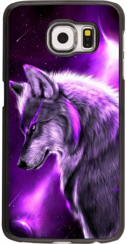 Coque Samsung Galaxy S6 - Purple Sky Wolf
