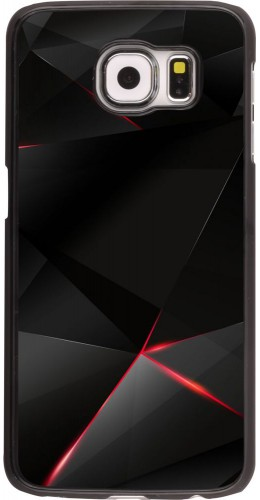 Coque Galaxy S6 edge - Black Red Lines