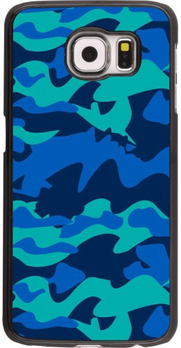 Coque Samsung Galaxy S6 edge - Camo Blue