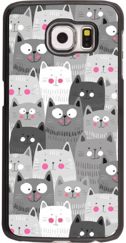 Coque Samsung Galaxy S6 edge - Chats gris troupeau