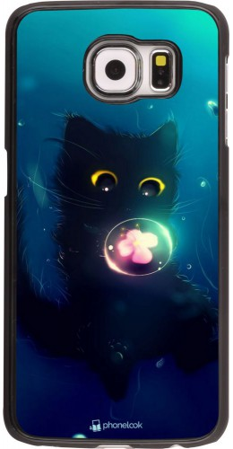 Coque Samsung Galaxy S6 edge - Cute Cat Bubble