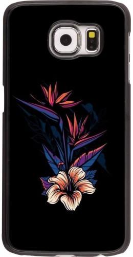 Coque Samsung Galaxy S6 edge - Dark Flowers