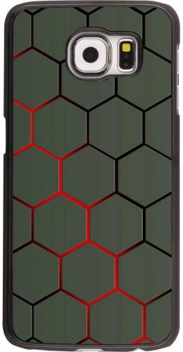Coque Samsung Galaxy S6 edge - Geometric Line red