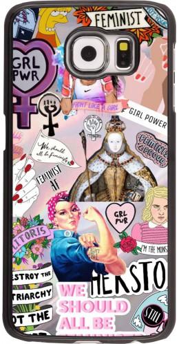 Coque Samsung Galaxy S6 edge - Girl Power Collage