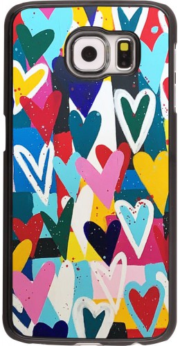 Coque Samsung Galaxy S6 edge - Joyful Hearts