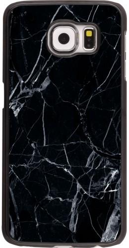 Coque Samsung Galaxy S6 edge -  Marble Black 01
