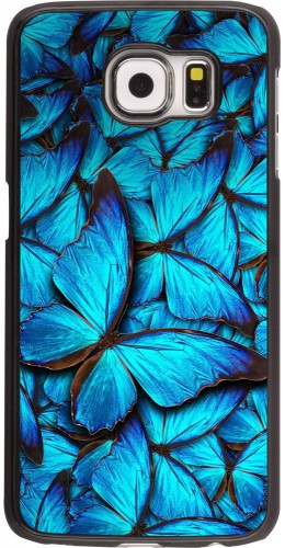Coque Galaxy S6 edge - Papillon bleu