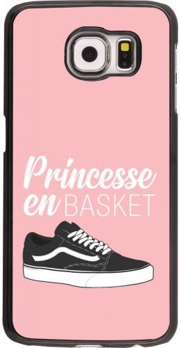 Coque Samsung Galaxy S6 edge - princesse en basket