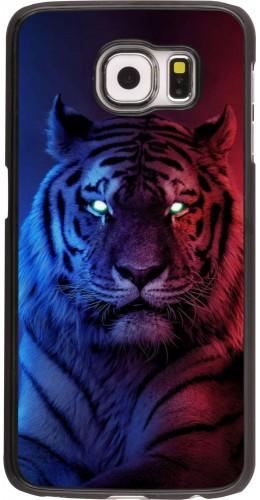 Coque Samsung Galaxy S6 edge - Tiger Blue Red