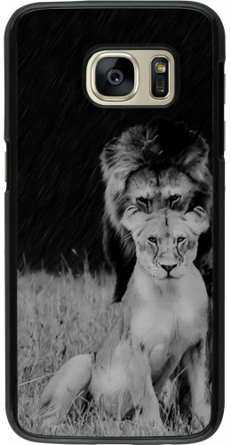 Coque Galaxy S7 - Angry lions