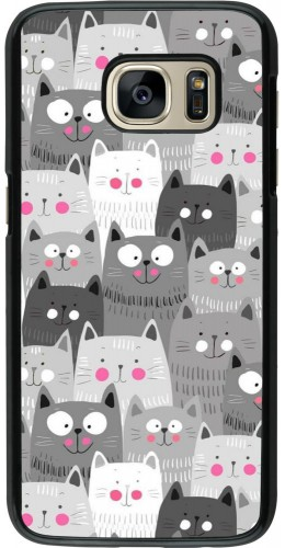 Coque Samsung Galaxy S7 - Chats gris troupeau