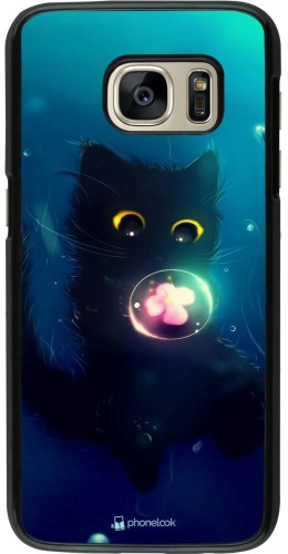 Coque Samsung Galaxy S7 - Cute Cat Bubble