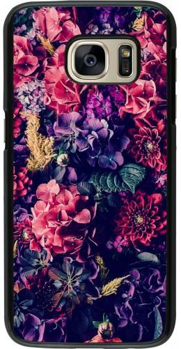 Coque Galaxy S7 - Flowers Dark